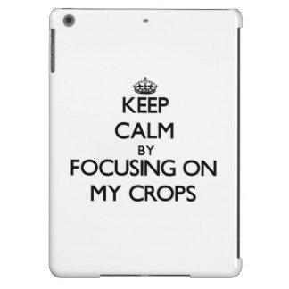 Keep Calm by focusing on My Crops iPad Air Cover