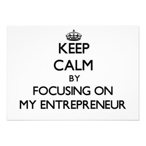 Keep Calm by focusing on MY ENTREPRENEUR Card