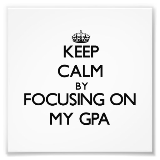 Keep Calm by focusing on My Gpa Photo Print