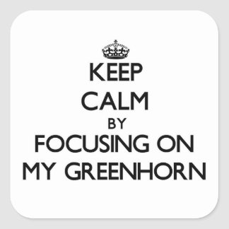 Keep Calm by focusing on My Greenhorn Stickers