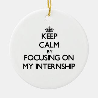 Keep Calm by focusing on My Internship Christmas Ornament