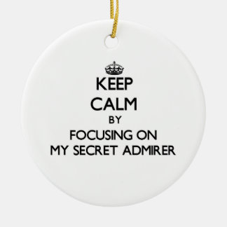 Keep Calm by focusing on My Secret Admirer Ornaments