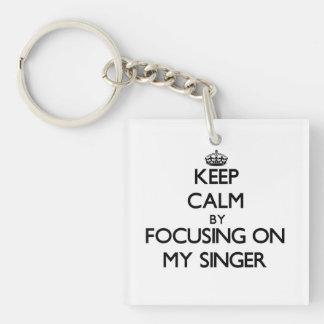 Keep Calm by focusing on My Singer Acrylic Key Chain