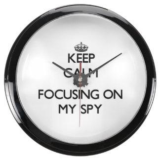 Keep Calm by focusing on My Spy Aquavista Clock