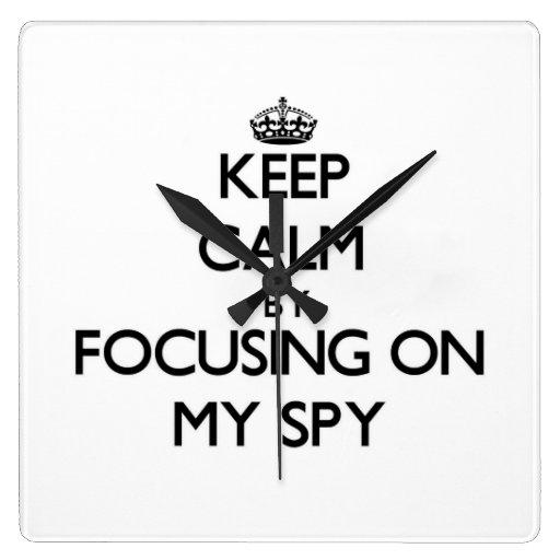 Keep Calm by focusing on My Spy Wall Clocks