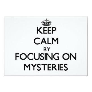 "Keep Calm by focusing on Mysteries 5"" X 7"" Invitation Card"