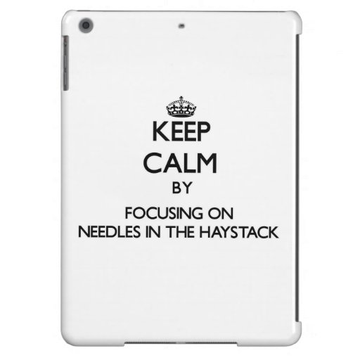 Keep Calm by focusing on Needles In The Haystack Cover For iPad Air