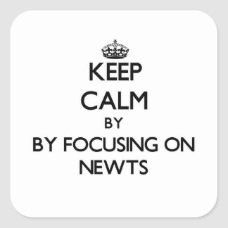 Keep calm by focusing on Newts Square Sticker