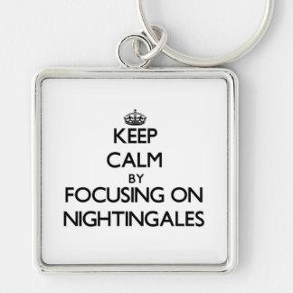 Keep Calm by focusing on Nightingales Key Chain