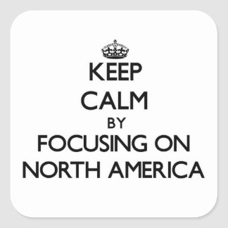 Keep Calm by focusing on North America Stickers