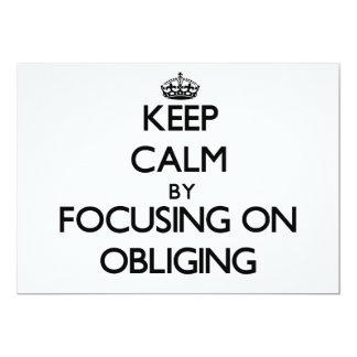 Keep Calm by focusing on Obliging Custom Invitation