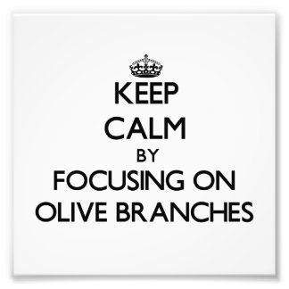 Keep Calm by focusing on Olive Branches Photo