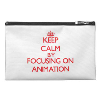 Keep calm by focusing on on Animation Travel Accessory Bag