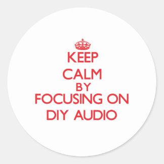 Keep calm by focusing on on Diy Audio Sticker