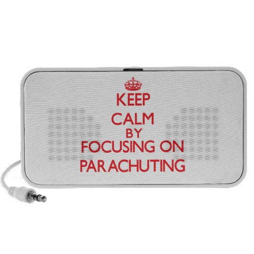 Keep calm by focusing on on Parachuting Portable Speaker