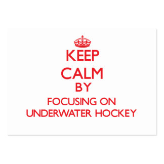 Keep calm by focusing on on Underwater Hockey Business Card Template