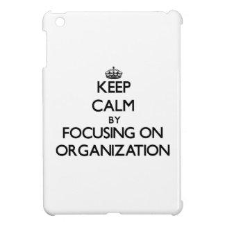Keep Calm by focusing on Organization iPad Mini Cases