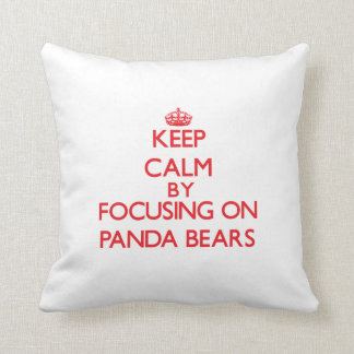 Keep calm by focusing on Panda Bears Cushion