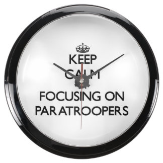 Keep Calm by focusing on Paratroopers Aqua Clock
