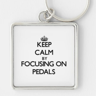 Keep Calm by focusing on Pedals Key Chains