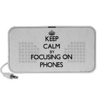 Keep Calm by focusing on Phones Mini Speakers