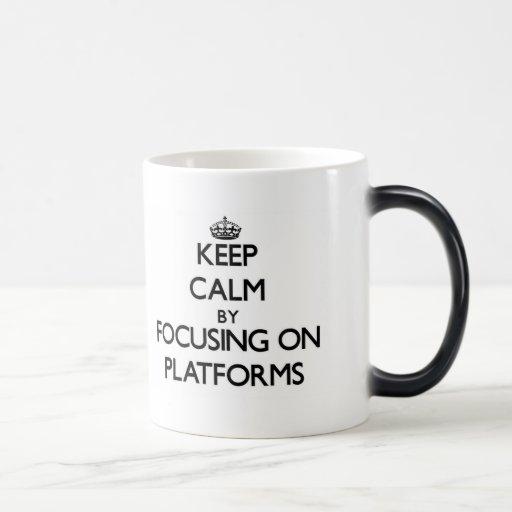 Keep Calm by focusing on Platforms Coffee Mug