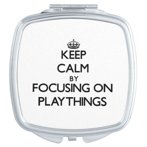 Keep Calm by focusing on Playthings Travel Mirror