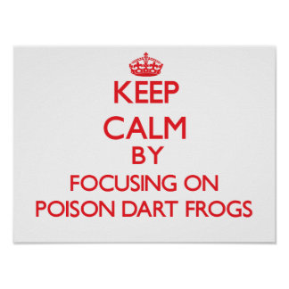 Keep calm by focusing on Poison Dart Frogs Poster