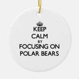 Keep Calm by focusing on Polar Bears Christmas Tree Ornaments
