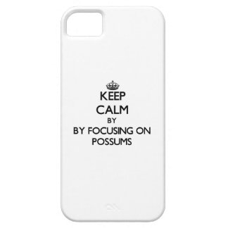 Keep calm by focusing on Possums iPhone 5 Covers
