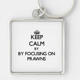Keep calm by focusing on Prawns Key Chains