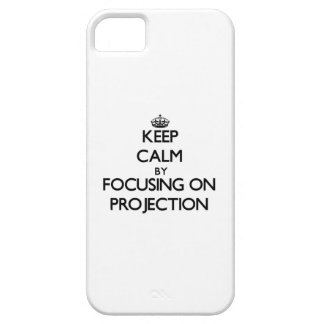 Keep Calm by focusing on Projection iPhone 5 Cover