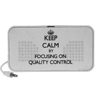 Keep Calm by focusing on Quality Control iPod Speaker