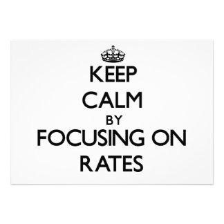 Keep Calm by focusing on Rates Custom Invites