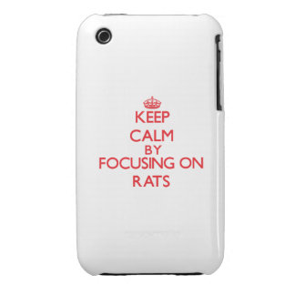Keep calm by focusing on Rats iPhone 3 Case
