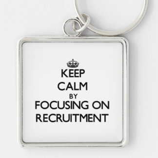 Keep Calm by focusing on Recruitment Keychains