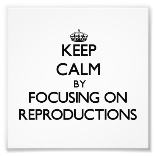Keep Calm by focusing on Reproductions Art Photo