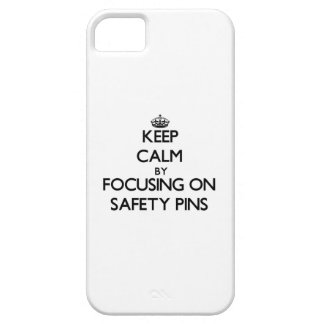Keep Calm by focusing on Safety Pins iPhone 5 Covers
