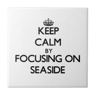 Keep Calm by focusing on Seaside Ceramic Tiles