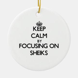 Keep Calm by focusing on Sheiks Ornament