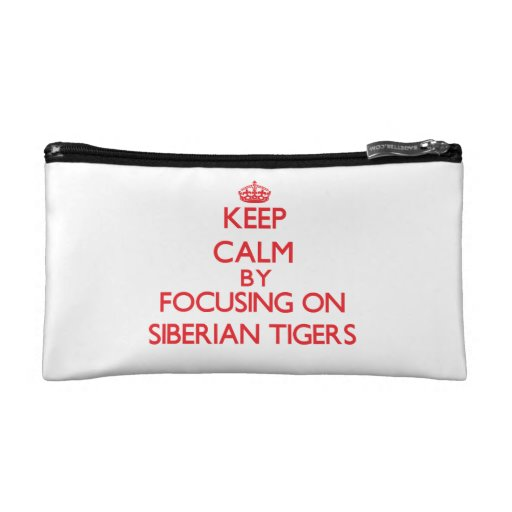 Keep calm by focusing on Siberian Tigers Cosmetics Bags