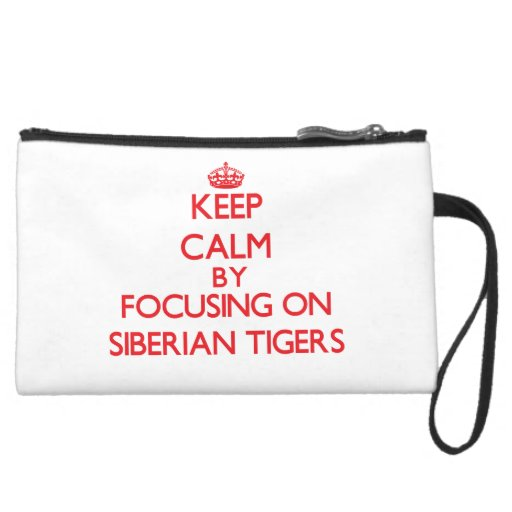 Keep calm by focusing on Siberian Tigers Wristlets