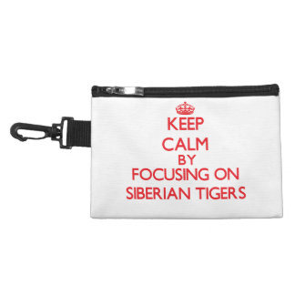 Keep calm by focusing on Siberian Tigers Accessory Bags