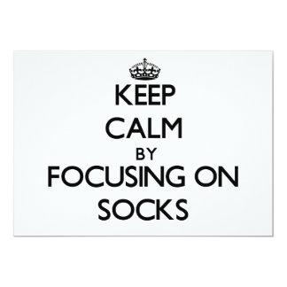 Keep Calm by focusing on Socks Card