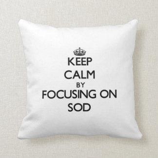 Keep Calm by focusing on Sod Throw Pillows