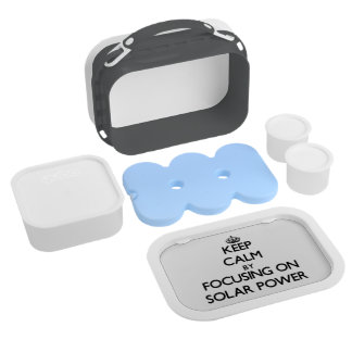 Keep Calm by focusing on Solar Power Yubo Lunch Boxes