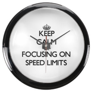 Keep Calm by focusing on Speed Limits Aquavista Clock