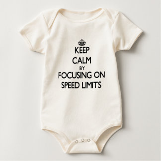 Keep Calm by focusing on Speed Limits Baby Bodysuits