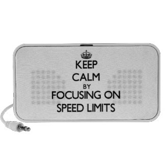 Keep Calm by focusing on Speed Limits Portable Speaker