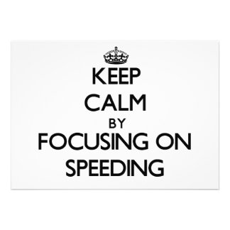 Keep Calm by focusing on Speeding Personalized Announcements